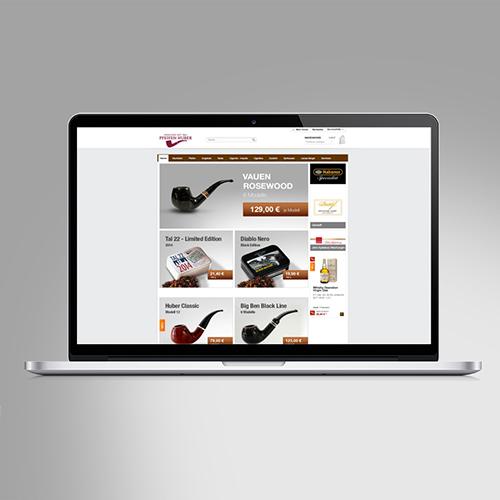Pfeifen Huber | Onlineshop-Design