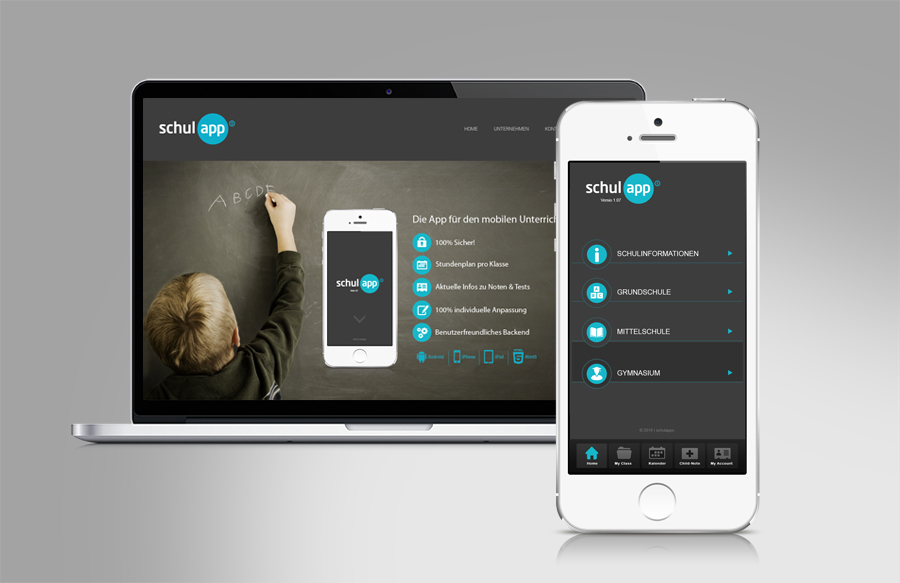 schulapps classic und online branding app design sl design full service werbeagentur. Black Bedroom Furniture Sets. Home Design Ideas