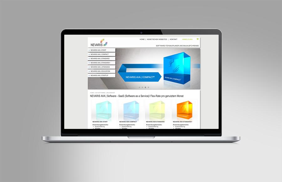 nevaris classic und online branding onlineshop sl design full service werbeagentur. Black Bedroom Furniture Sets. Home Design Ideas