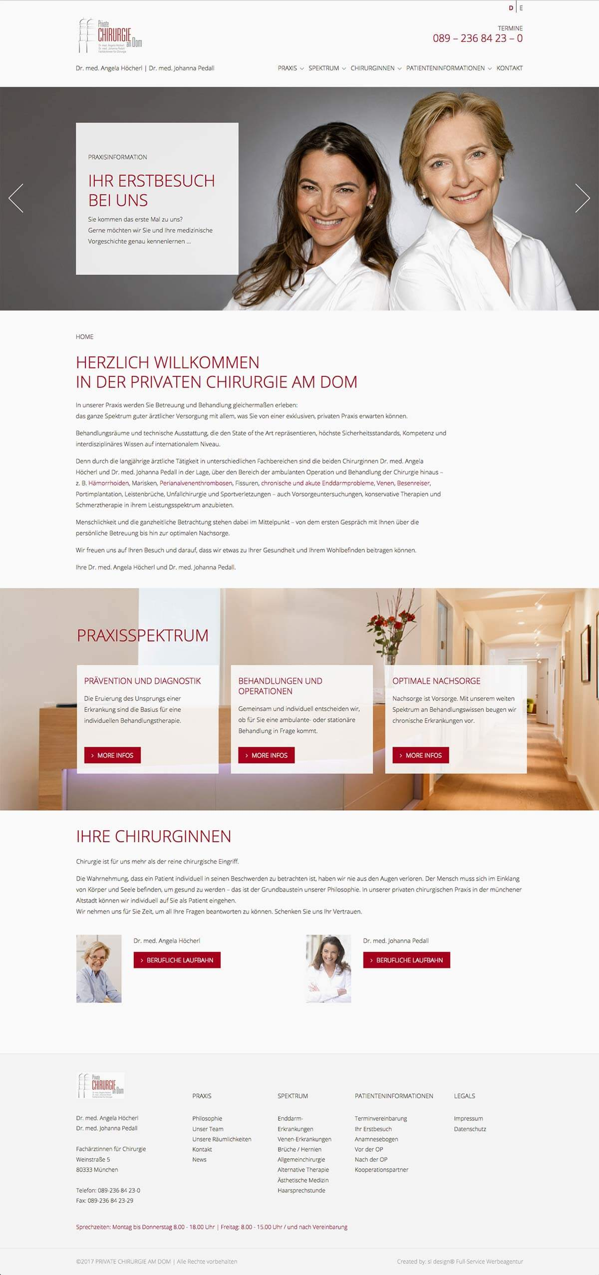 Private chirurgie am dom online branding website for Architect services online