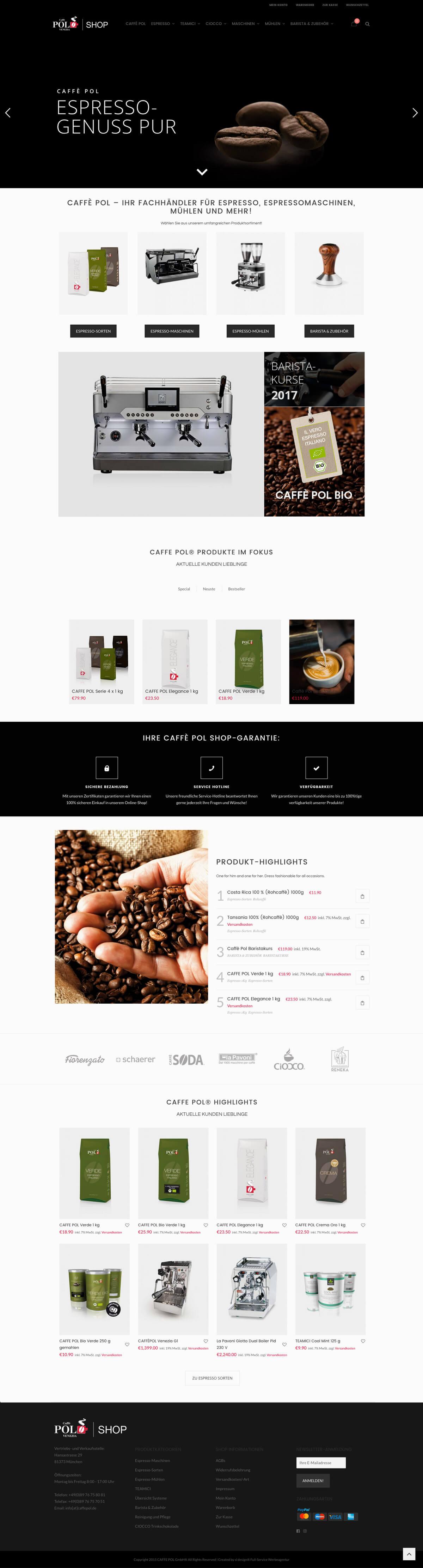 Caff pol online branding entwicklung onlineshop sl for Outlet design online