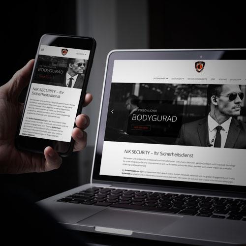 NIK SECURITY Website